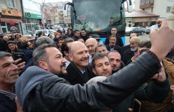 İçişleri Bakanı Soylu'ya Bayburt'ta sevgi seli
