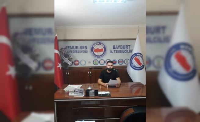 Genç Memursen Bayburt İl Temsilciliğinden Azerbaycan'a Destek Açıklaması