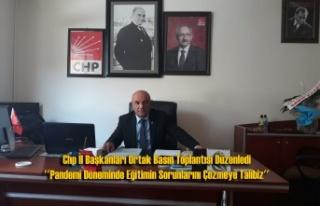 Chp İl Başkanları Ortak Basın Toplantısı Düzenledi...
