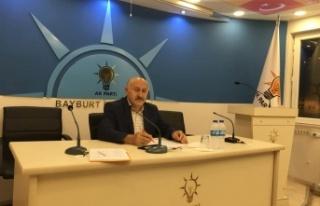 AK Parti Bayburt İl Başkanı Hacı Ali Polat, Bayburt'ta...