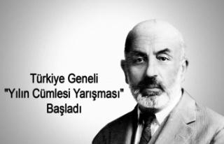 """Türkiye Geneli """"Yılın Cümlesi"""" Yarışması..."""