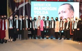 AK Parti Bayburt Kadın Kolları Başkanlığına yapılan kongreyle Elif Çil seçildi