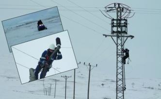 Elektrik arızalarına 'kar motorlu' müdahale